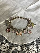 Fashion Charm Bracelet Enamel Butterflys & Flowers Jewelry Yk-39