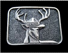 FIRE RANGER DEER ELK FOREST WILD ANIMAL BELT BUCKLE BOUCLE DE CEINTURE