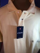 Chaps Mens Polo XL Yellow NWT