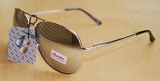 Aviator Large Driving Sunglasses Full Silver Hand Polished Frame Mirror 100 UV
