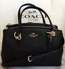 Coach Black Crossgrain Mini Christie Carryall Satchel F57523 Wallet