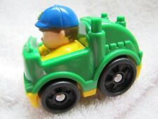 Rare Fisher Price Little People WHEELIES GARBAGE MAN in RECYCLING TRUCK VEHICLE