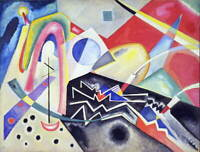Wassily Kandinsky White Zig Zags Poster Reproduction Giclee Canvas Print