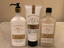 Bath & Body Aromatherapy TEA TREE PEPPERMINT PEACEFUL Body Lotion Cream Wash 1X