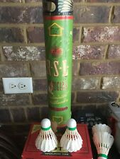 Vintage Tube Of R-S-L Feathered Shuttlecocks Official Badminton