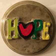 Hope 4R plaque, stepping stone,  plastic mold, concrete mold, plaster