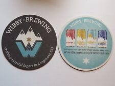 Beer Coaster ~ WIBBY Brewing IPL, Helles, Radler, Dunkel ~ Longmont, COLORADO