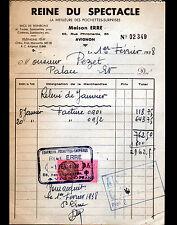"""AVIGNON (84) SACS & POCHETTES SURPRISES """"REINE DU SPECTACLE /  Maison ERRE"""" 1938"""