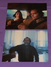 original The Shining lot of 2 lobby cards Jack Nicholson Shelley Duvall
