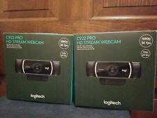 Brand New Logitech C922 Pro HD Stream Webcam w/ Tripod - In Hand