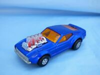 Vintage Matchbox Rolamatics 10 Piston Popper 1969 Ford Mustang Mach II Blue Toy