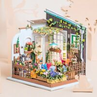 Robotime Garden Miniature Doll Houses DIY Crafts Furniture Gift Toy Girls Kids