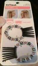 NEW Scunci goody bendini hair clip, slide and snap 2 pieces with beautiful beads