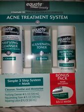 Equate Acne Treatment System. 3 Steps + Mask