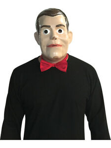 Goosebumps Slappy The Dummy Mask And Bow Tie Costume Accessory
