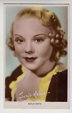 "POSTCARD - Sonja Henie ""Art Photo"" #132, movie film actress, tinted colour RP"