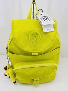 Kipling Queenie Mini Backpack Honeydew Neon Yellow/Green Nylon $99 NWT