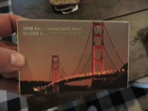 2018 San Francisco Mint Silver Reverse Proof Set in Box, #2, (D)