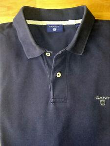 GANT Herren Poloshirt, Gr. L, Blau Unifarben