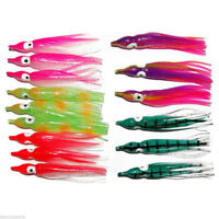 20pcs 5-15cm Bulb Soft Fishing Lures Saltwater Octopus Squid Skirt Lure Hoochies