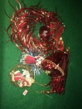 Vintage Christmas Shiny Foil Decorations Made In Japan German Scrap And Tinsel
