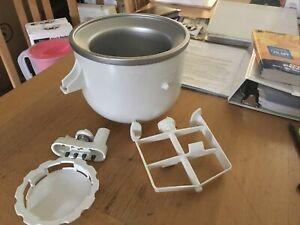 Kitchenaid 2 QT. Ice Cream Maker, Mixer Attachment And Instructions