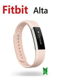 Fitbit Alta FB406 Smart Fitness Activity Tracker Wristband Small Large Pink Gray