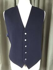 Navy Blue Wool Blend Waistcoat by BHS XL Chest 44""