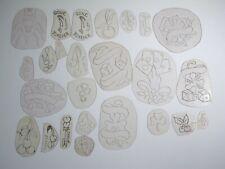 vtg 1960s 1970s Tattoo acetate stencil asstd Luck Cherries Dice Cards TX LUK