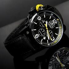 Mens Invicta I-Force Lefty 46mm Black Leather Chronograph Watch New W/ Warranty