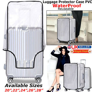 """TRANSPARENT SUITCASE WATER COVER LUGGAGE PROTECTOR TRAVEL PVC 24"""" 28"""" 30"""" BAG"""