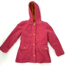 Gymboree Corduroy Jacket size 7/8 Pink Button Down Hood Pockets
