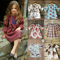 Toddler Baby Kid Girl Dress Long Sleeve Princess Party Pageant Wedding Dress lot
