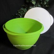 Tupperware NEW MAXI EXTRA LARGE MEGA BOWL Green White Seal MIXING Salad Picnic