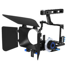 DSLR Rig Video Camera Cage Follow Focus Handle Grip  Steadicam Kit K8Q0