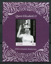 Grenada 2018 MNH Queen Elizabeth II Coronation 65th Anniv 1v S/S Royalty Stamps