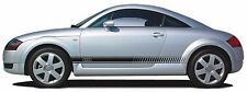 AUDI TT SIDESTRIPES GRAPHIC VINYL DECAL STICKER PAIR WILL FIT OTHERS A3 A4 A5 A6