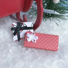 """Dollhouse Miniature Christmas Presents Holiday Gifts 1"""" Scale 1:12 Candy Cane"""
