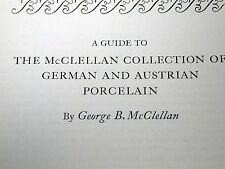 George McClellan Collection German Austrian Porcelain 1946 Private Print Book