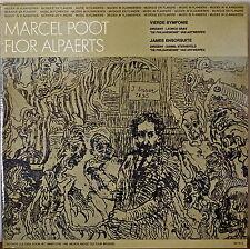 MARCEL POOT: Vierde Symfonie/FLOR ALPAERTS: James Ensorsuite-M1977LP BELGIAN IMP