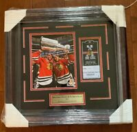 Jonathan Toews Patrick Kane Chicago Blackhawks 2015 Stanley Cup 8x10 Framed
