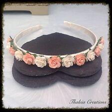 CHILDRENS ROSE FLOWER ALICE HEAD BAND*Wedding Accessories*Flowergirl*Vintage*