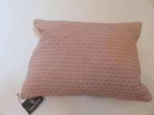 Vera Wang Roses Pink silk Quilted Breakfast pillow NWT $150