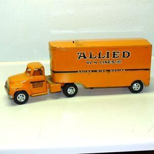 Vintage Tonka Allied Van Lines Semi Truck, Trailer, 1955 Cerebral Palsy