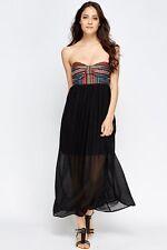 Womens Ethnic tribal Corset Black skirt Maxi Dress size 10 new