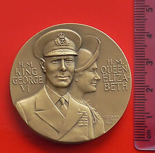 Bronze Medal King George VI HM Queen Air Battle of Britain WW2 USA made 1966 50g