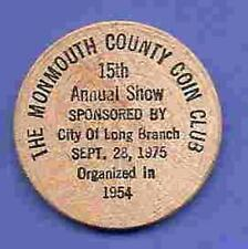 1975 Monmouth County Coin Club 15th Annual Show CA