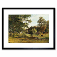 Painting Landscape Mohr Dragsholm Palace Park View Framed Art Print 12x16 Inch