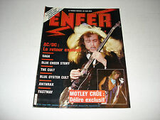 AC/DC Enfer metal magazine March 1986 Anthrax SAGA Blue Cheer MOTLEY The Cult