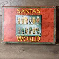 Santas From Around The World  Porcelain Hand Painted Figures 12pc
